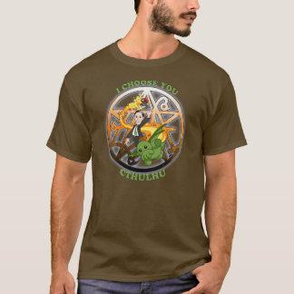 Ich wähle Cthulhu: Orange T-Shirt