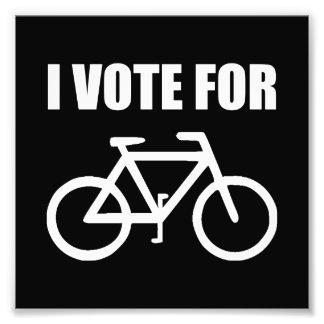 Ich wähle für Fahrrad Fotodruck