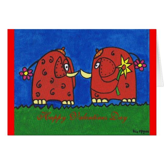 Ich wählte diese für ya, glücklicher Valentinstag Grußkarte