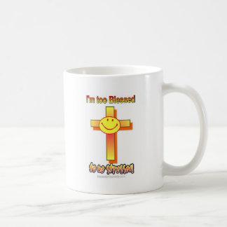 Ich werde auch gesegnet betont zu werden kaffeetasse