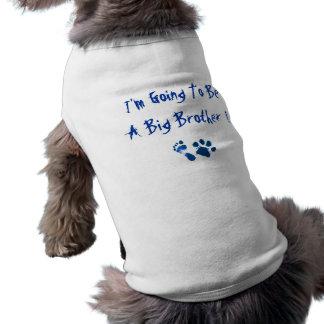 Ich werde ein großer Bruder sein Ärmelfreies Hunde-Shirt