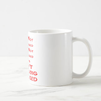 Ich werde nicht betont - ich bin NICHT betonter Tasse