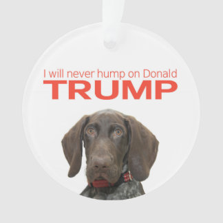 Ich werde nie Buckel auf Donald Trump! Ornament