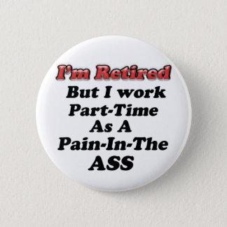 Ich werde zurückgezogen runder button 5,7 cm