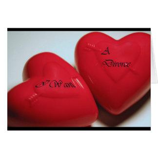 Ich will eine Scheidungs-Herz-Gruß-Karte (passen Karte
