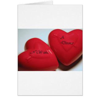 Ich will eine Scheidungs-Herz-Gruß-Karte V (passen Karte