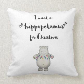 Ich will einen Hippopotamus für Weihnachten - Kissen