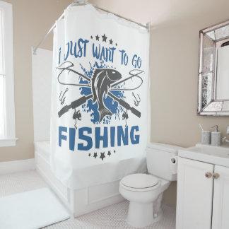 Ich will gerade, um zu fischen zu gehen duschvorhang