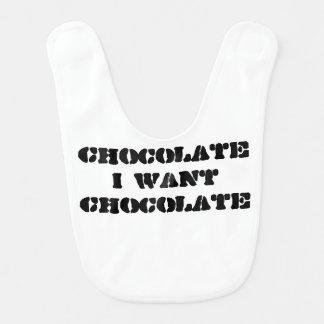 Ich will Schokolade Babylätzchen