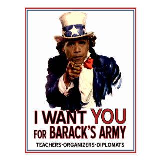 Ich will Sie - politische Postkarte Obama