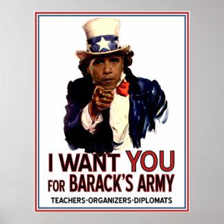 Ich will Sie - politisches Plakat Obama