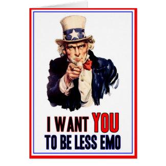 Ich will SIE -- zu weniger emo sein Karte