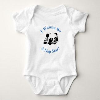 Ich will, um ein Nickerchen-Stern Sleepytime Baby Strampler