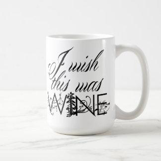 Ich wünsche, dass dieses Wein-Kaffee-Tasse war Tasse