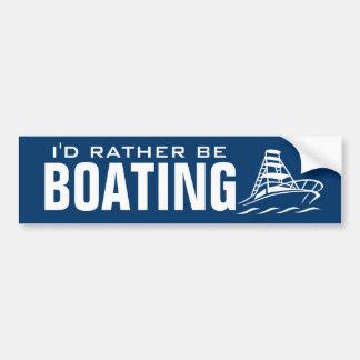 Ich würde eher Bootfahrt-Autoaufkleber sein Autoaufkleber