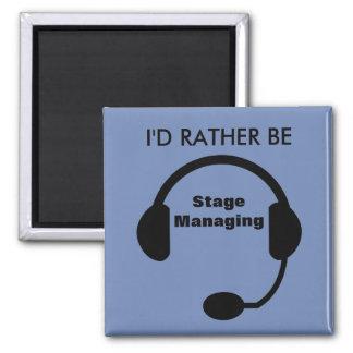Ich würde eher Bühne-Leitung sein Quadratischer Magnet