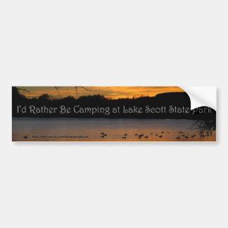 Ich würde eher Camping am See-Scott-Staats-Park Autoaufkleber