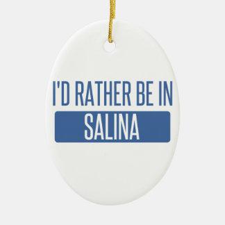 Ich würde eher in der Saline sein Keramik Ornament
