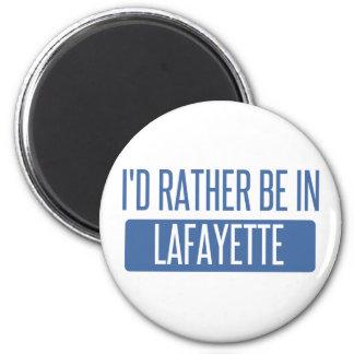 Ich würde eher in Lafayette HEREIN sein Runder Magnet 5,1 Cm