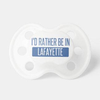 Ich würde eher in Lafayette HEREIN sein Schnuller