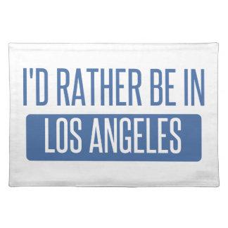 Ich würde eher in Los Angeles sein Stofftischset