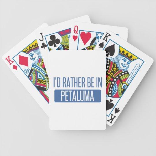 Ich würde eher in Petaluma sein Bicycle Spielkarten
