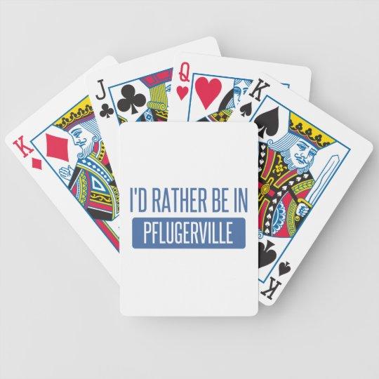 Ich würde eher in Pflugerville sein Bicycle Spielkarten
