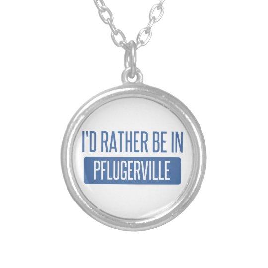 Ich würde eher in Pflugerville sein Halskette Mit Rundem Anhänger