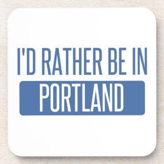 Ich würde eher in Portland ICH sein Getränkeuntersetzer