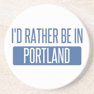 Ich würde eher in Portland ICH sein Sandstein Untersetzer