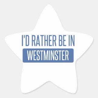Ich würde eher in Westminster CA sein Stern-Aufkleber