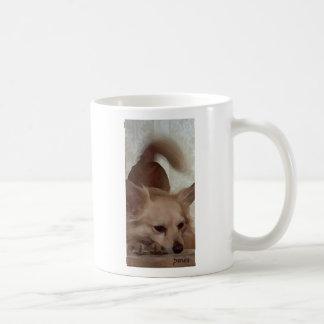 Ich würde eher mit meinem Hund weil sein Kaffeetasse