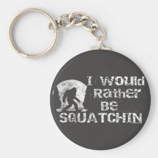Ich würde eher Squatchin Bigfoot Keychain sein Standard Runder Schlüsselanhänger