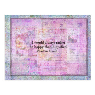 Ich würde immer eher glücklich als würdig sein postkarte