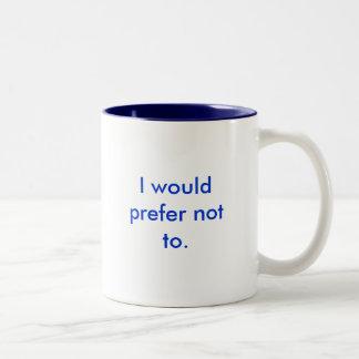 Ich würde nicht gegenüber bevorzugen zweifarbige tasse