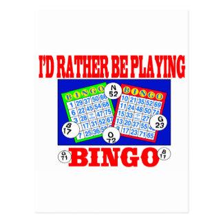 Ich würde vielmehr Bingo spielen! Postkarte