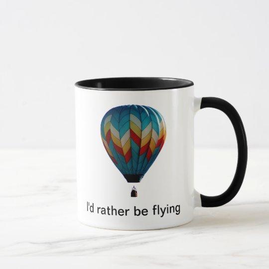Ich würde vielmehr Heißluftballonkaffee-Tasse Tasse