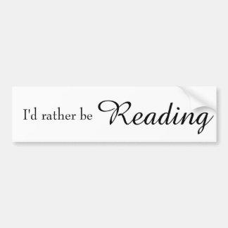 Ich würde vielmehr lesen autoaufkleber