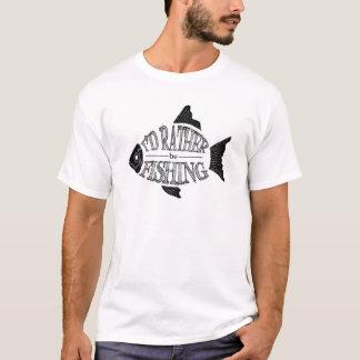 Ich würde vielmehr - niedlicher Fischentwurf T-Shirt