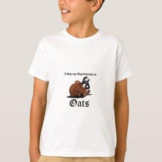 Ich zahle meinen Psychiater in Hafer-Brown-Pferd T-Shirt