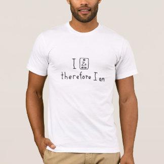 Ich zinc deshalb mich bin Wortspiel-Shirt der T-Shirt