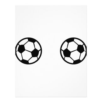 icône de deux ballons de football prospectus 21,6 cm x 24,94 cm