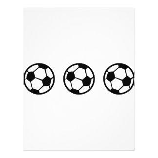 icône de trois ballons de football prospectus avec motif