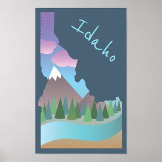 Idaho-Illustrations-Plakat Poster