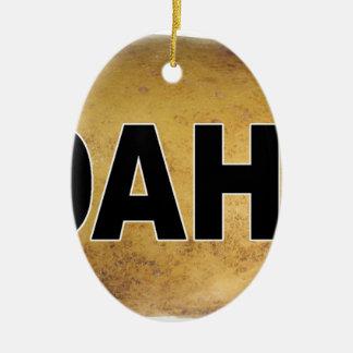 Idahoeuroart-ovale Auto-Abziehbild-Kartoffeln Keramik Ornament