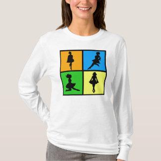 iDance irische Tänzer-Silhouetten T-Shirt