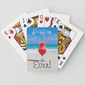 Ideale Strand-Ferien Pokerkarte