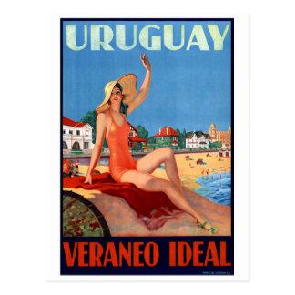 Ideales Vintages Reise-Plakat Uruguays Veraneo Postkarten