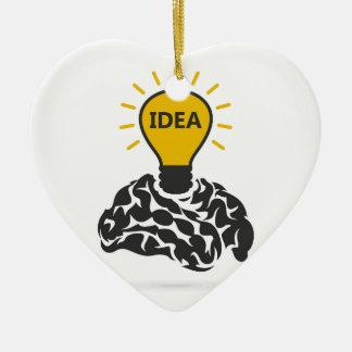 Idee eines Gehirns Keramik Herz-Ornament