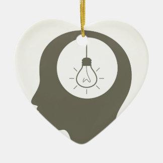 Idee in einem Kopf Keramik Herz-Ornament